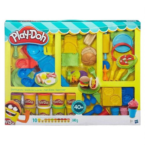 Play-Doh Chef Supreme Set With 40 Pieces + 10 Play-Doh Pots